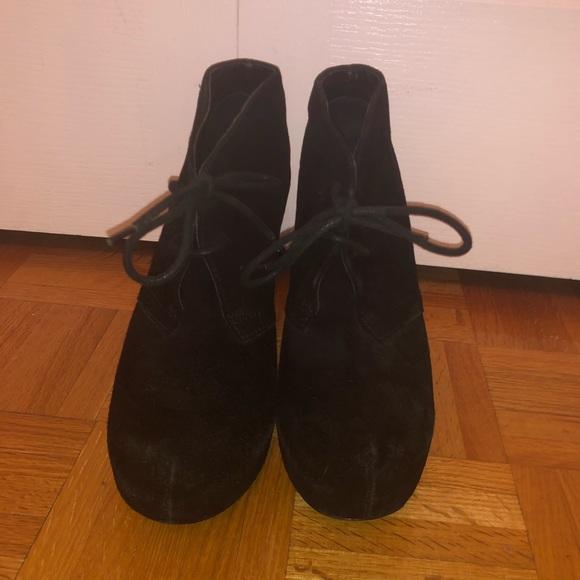 Steve Madden Shoes - Steve Madden Black Suede Ankle Bootie